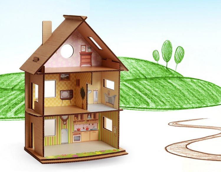 Как сделать кукольный домик картон
