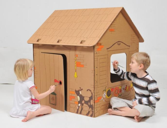 Картонный домик своими руками для детей