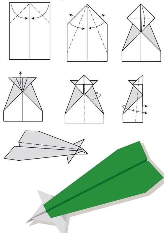 Самолёты из бумаги своими руками