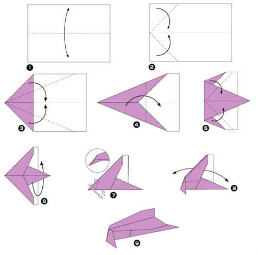 Как сделать самолёт из бумаги своими руками фото