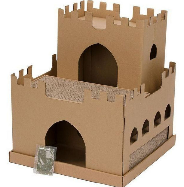 Замок из коробок своими руками картинки 63