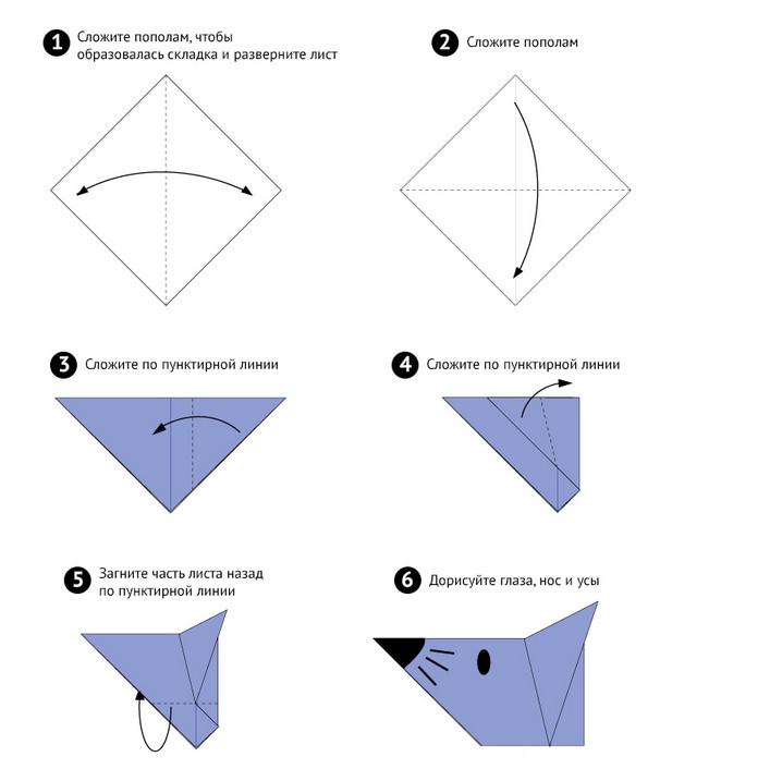 Модульные оригами схемы мишки