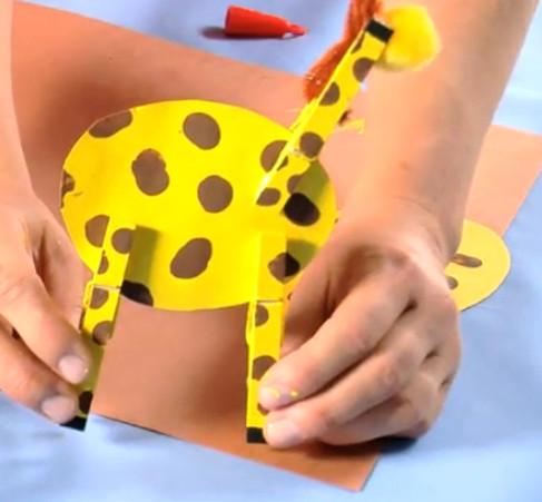 Жираф из бумаги