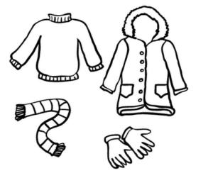 Раскраски одежда для девочек