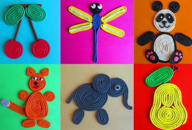 Поделки для детей 4-5 лет из пластилина