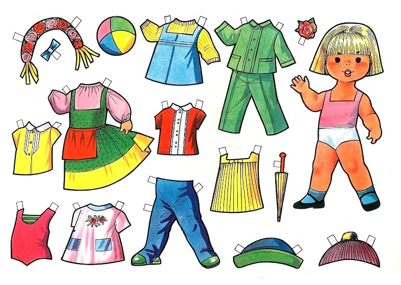 Одежда из бумаги для кукол своими руками