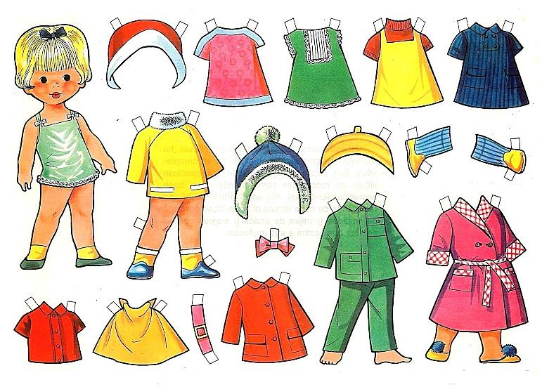 Одежда из бумаги для кукол