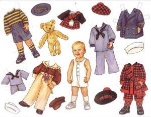 Куклы из бумаги с одеждой распечатать