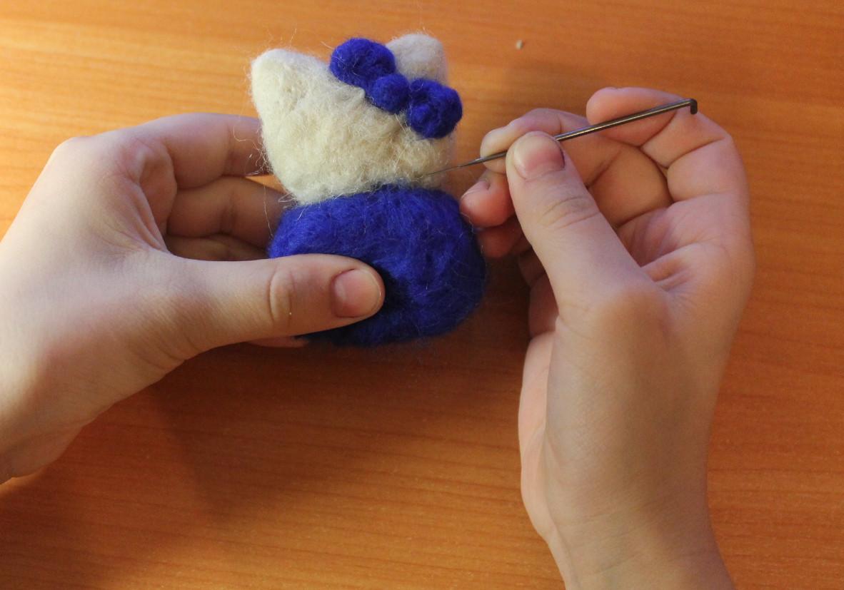 Сухое валяние из шерсти игрушки для начинающих