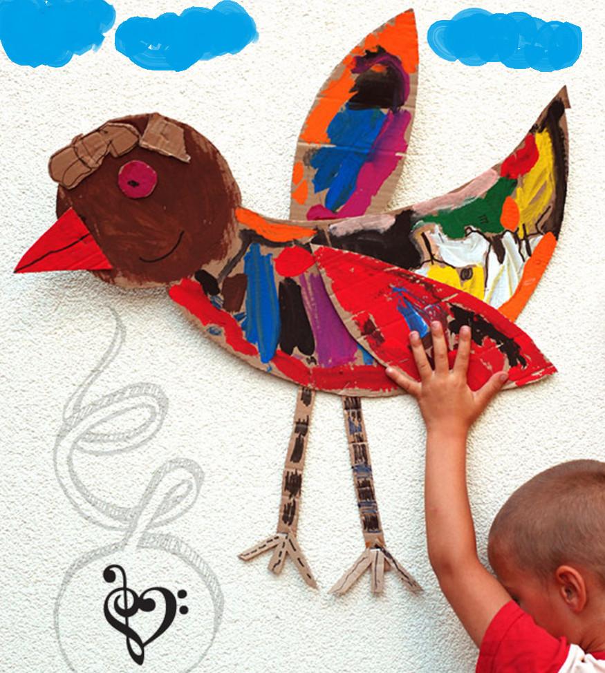 Птица своими руками для детей фото