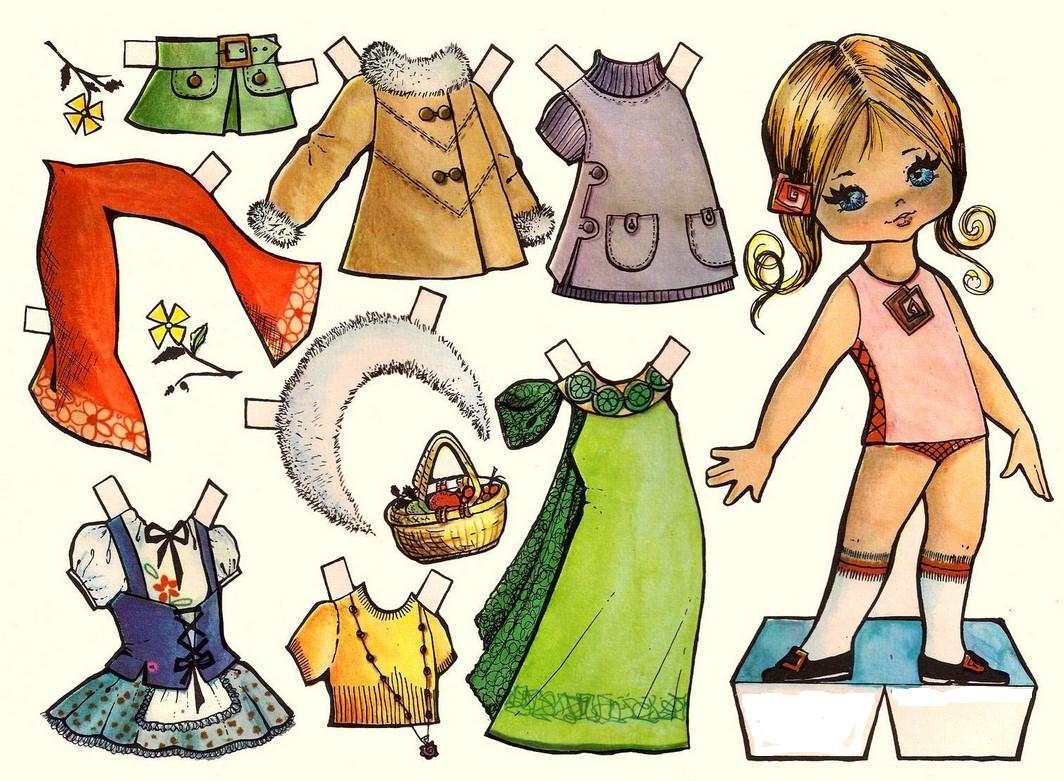 Как сделать из бумаги ножницы для кукол