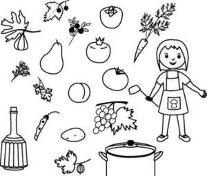 Раскраски овощи распечатать