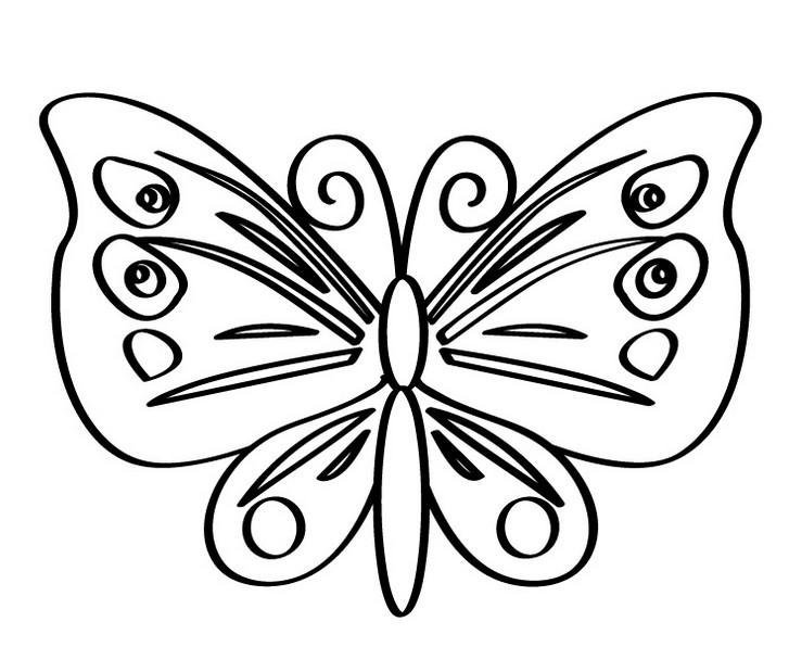 Раскраска для девочек бабочки распечатать - 7