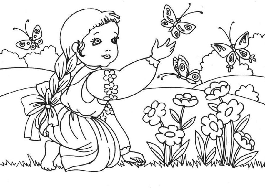 Раскраска для девочек природа - 10