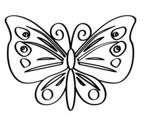 Раскраски бабочки для детей