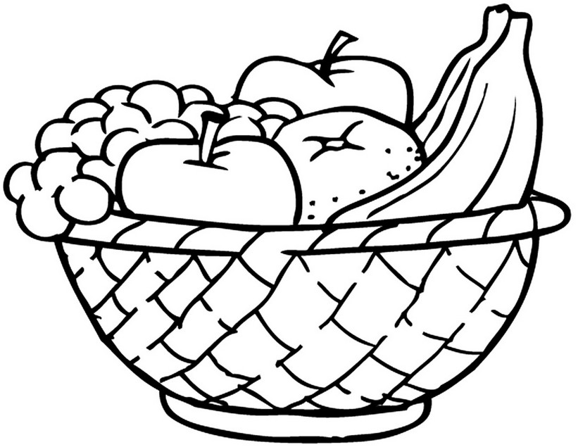 Раскраска детская фруктов