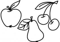 Раскраски фрукты (44)
