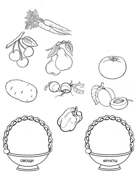 Раскраски фрукты с заданиями (5)