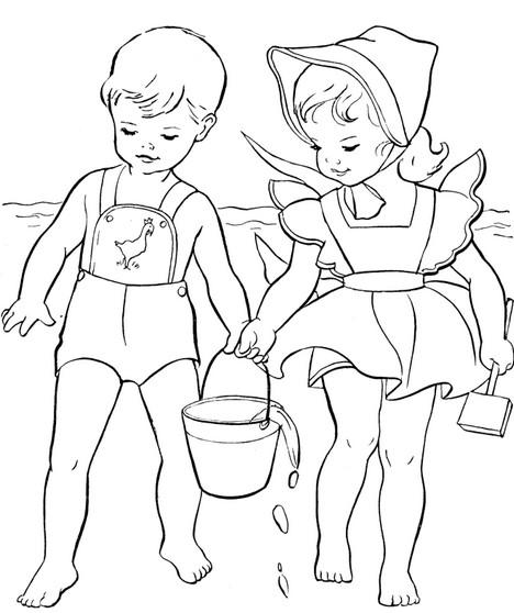 Раскраски на летнюю тему