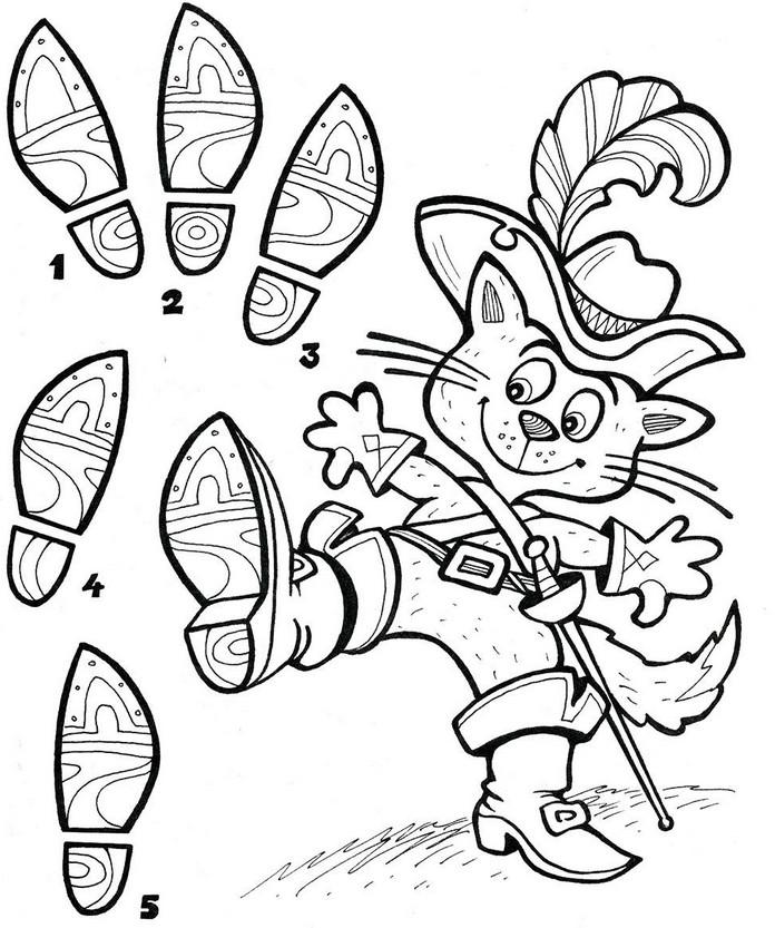 раскраски по сказкам для детей задание дошкольникам 5 лет