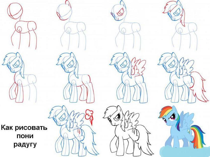 Как нарисовать всех май литл пони поэтапно