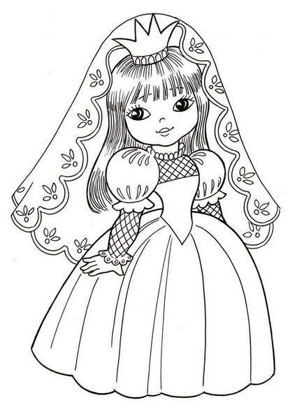 Разукрашки принцессы