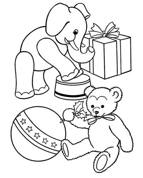 Разукрашка игрушки