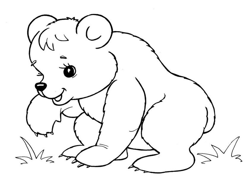 Картинки детские раскраски с животными