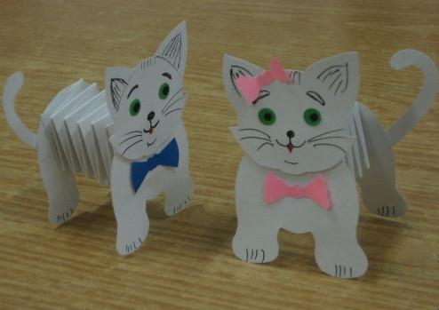 Поделка своими руками из бумаги котика