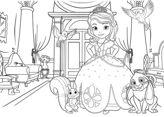 Игра раскраски для девочек принцессы диснея