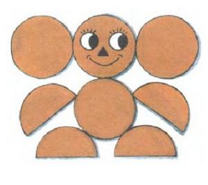 Аппликации из кружков