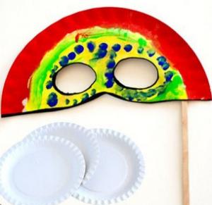 Поделка из бумажной тарелки к новому году
