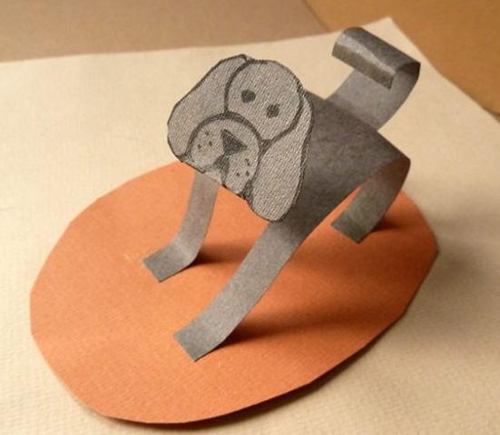 Как сделать фигурку из цветного картона