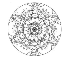 Мандалы раскраски антистресс (11)
