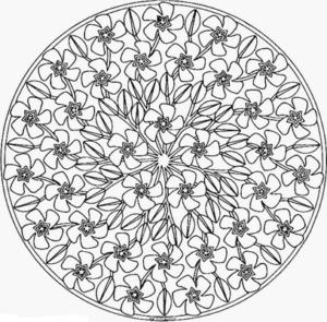 Мандалы раскраски антистресс (44)