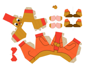 Объемные игрушки из бумаги (13)