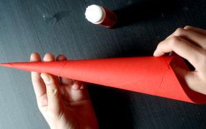 Как сделать дед мороза из бумаги (5)