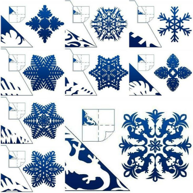 paper snow flake Set of six white tissue paper snowflake decorations: one 22 inch, two.