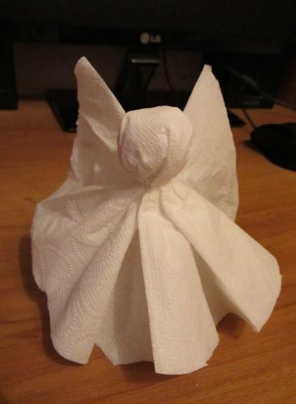Как сделать ангелочка из бумаги своими руками (11)
