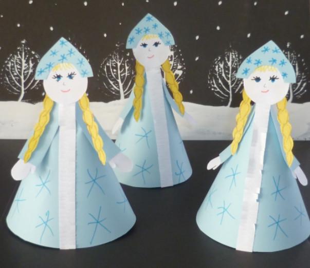Как сделать снегурочку (6)