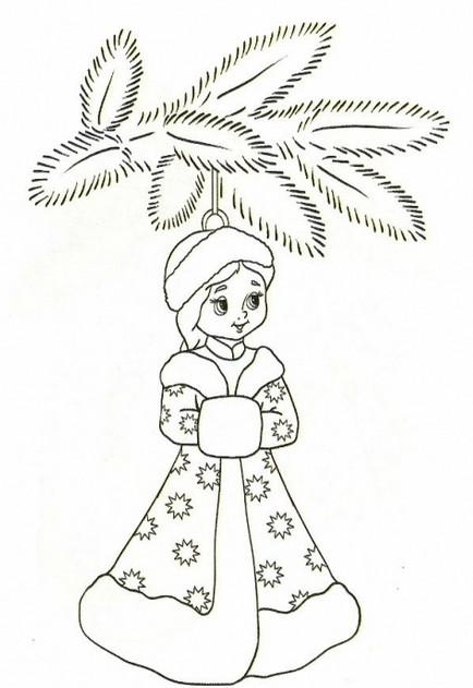 Как сделать снегурочку (9)