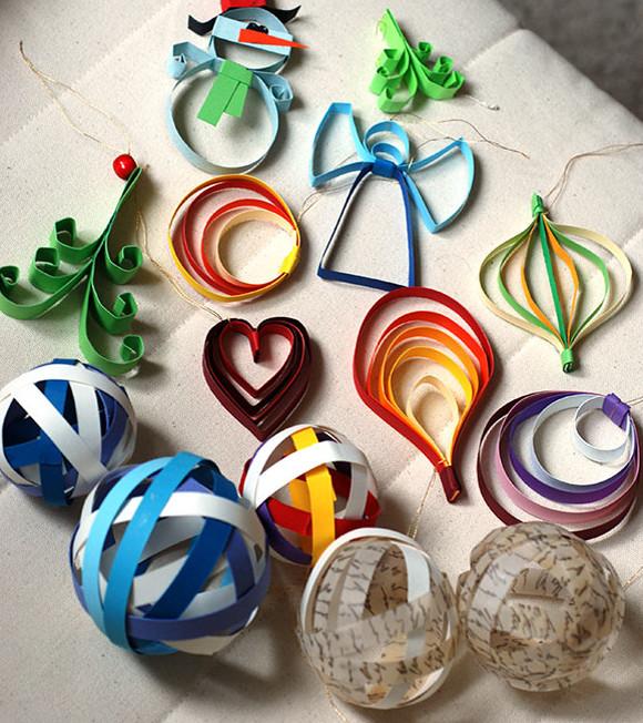 Новогодние игрушки из бумаги (19)