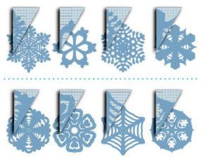 Новогодние игрушки из бумаги (2)
