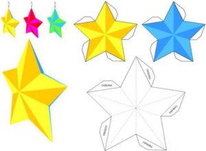 Новогодние игрушки из бумаги (3)