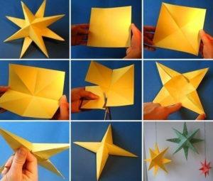 Новогодние игрушки из бумаги (5)