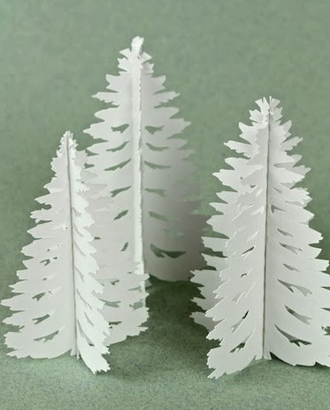 Ёлочки из бумаги (32)