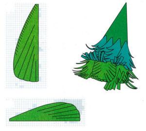 Ёлочки из бумаги (51)