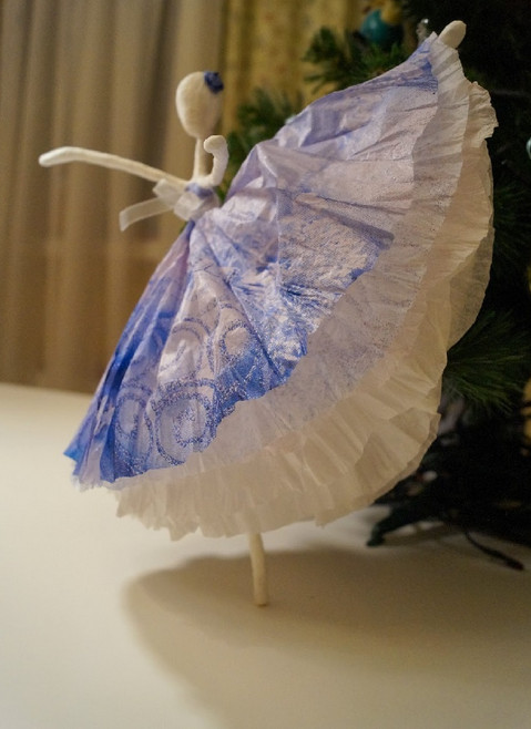 Балерина своими руками из салфеток 347