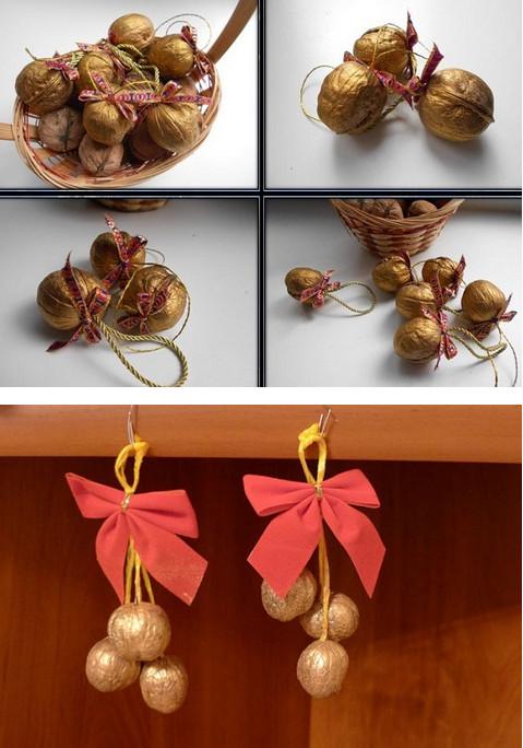Орех съем, а скорлупу соберу в пакет, чтобы создать настоящее чудо к грядущему Новому году...