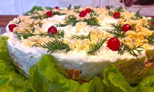 Очень вкусный салат «Мимоза» с тунцом: готовимся к празднику...